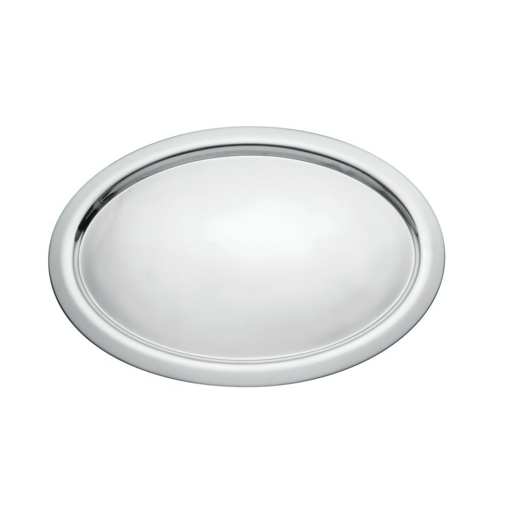 TRAY, SERVING, BASIC, OVAL, S/S, 16.5X22.5