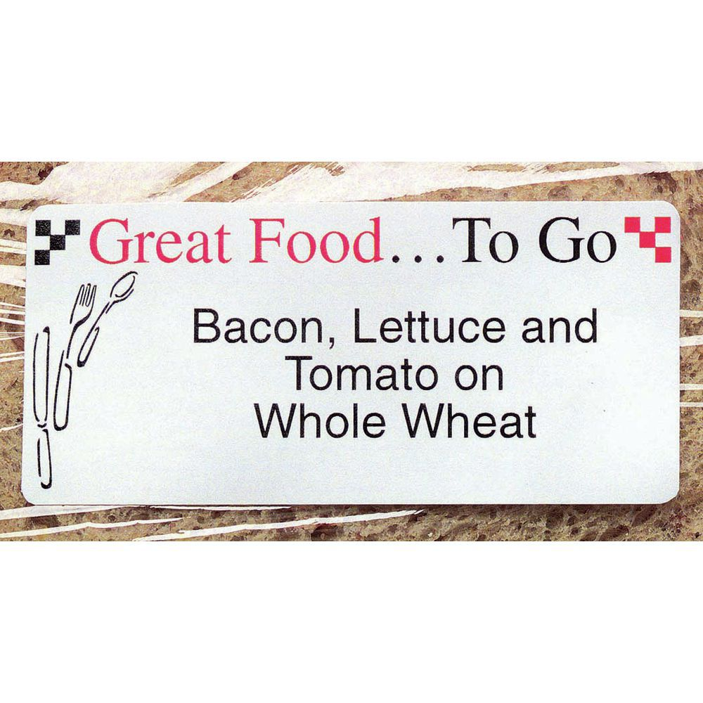 LABEL, LASER, GREAT FOOD TO GO, 780 LABELS