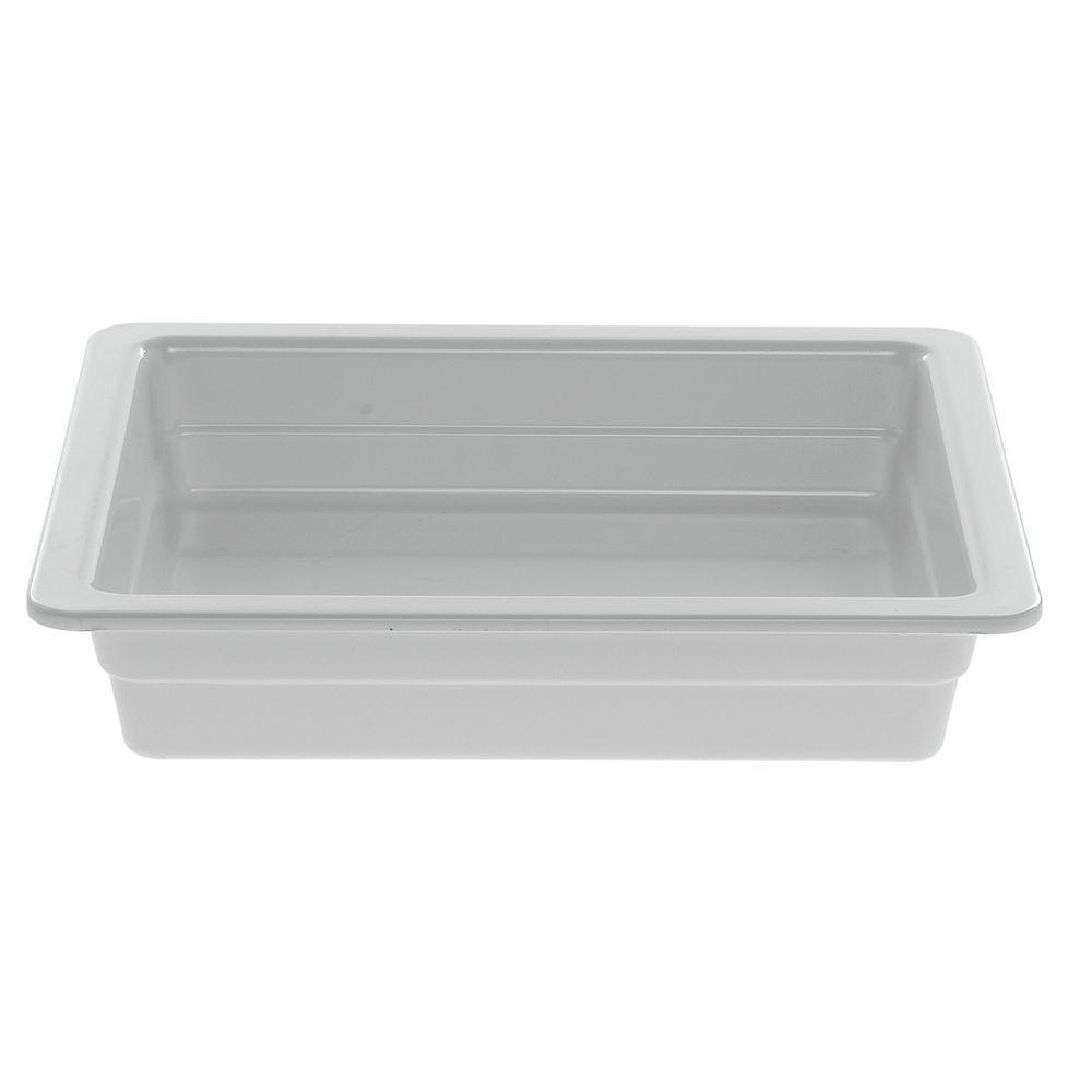 "PAN, 1/2 SZ.2.5""D, WHITE, MELAMINE"