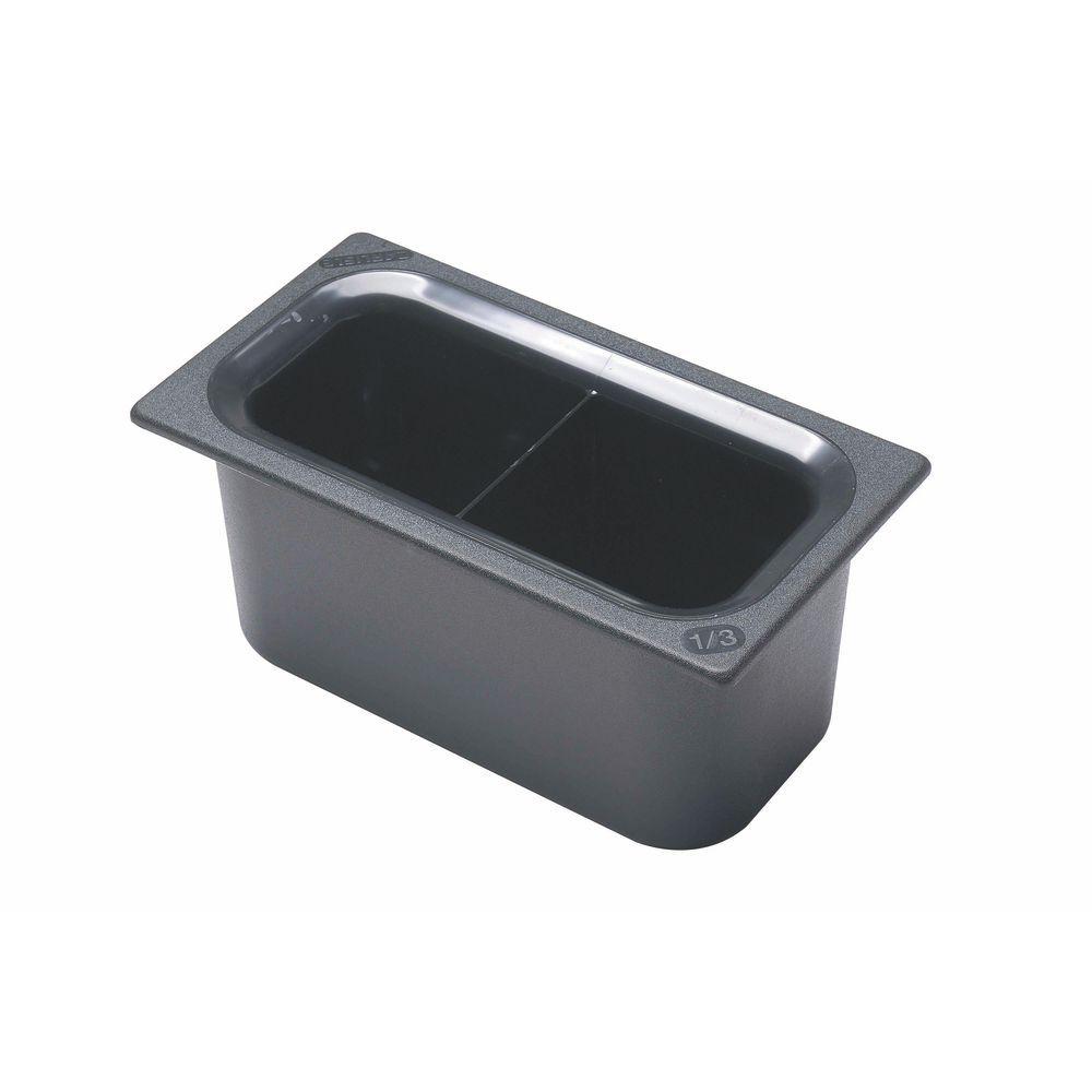 Carlisle Coldmaster® Pan 1/3 Size Black Divided