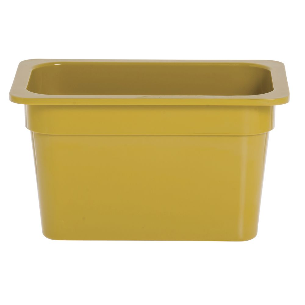 "Expressly Hubert® Fourth Size Melamine Pan 6""D Mustard Yellow"