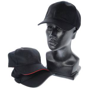 CAP, BASEBALL, COOL VENT, SOLID BLACK