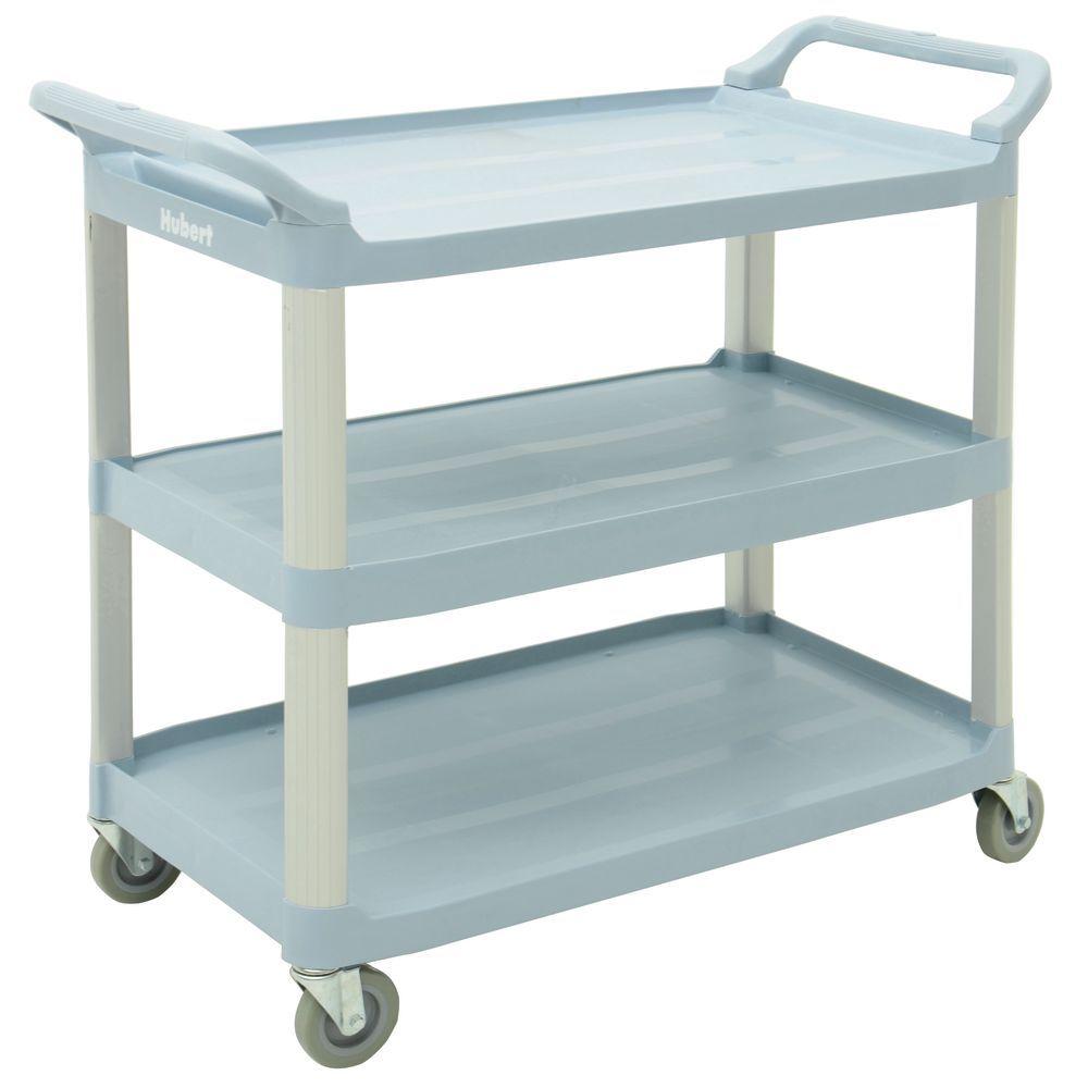 """Hubert Serving Cart 40 1/4 L x 19 7/8 """"W x 37""""H Plastic And Aluminum Grey"""