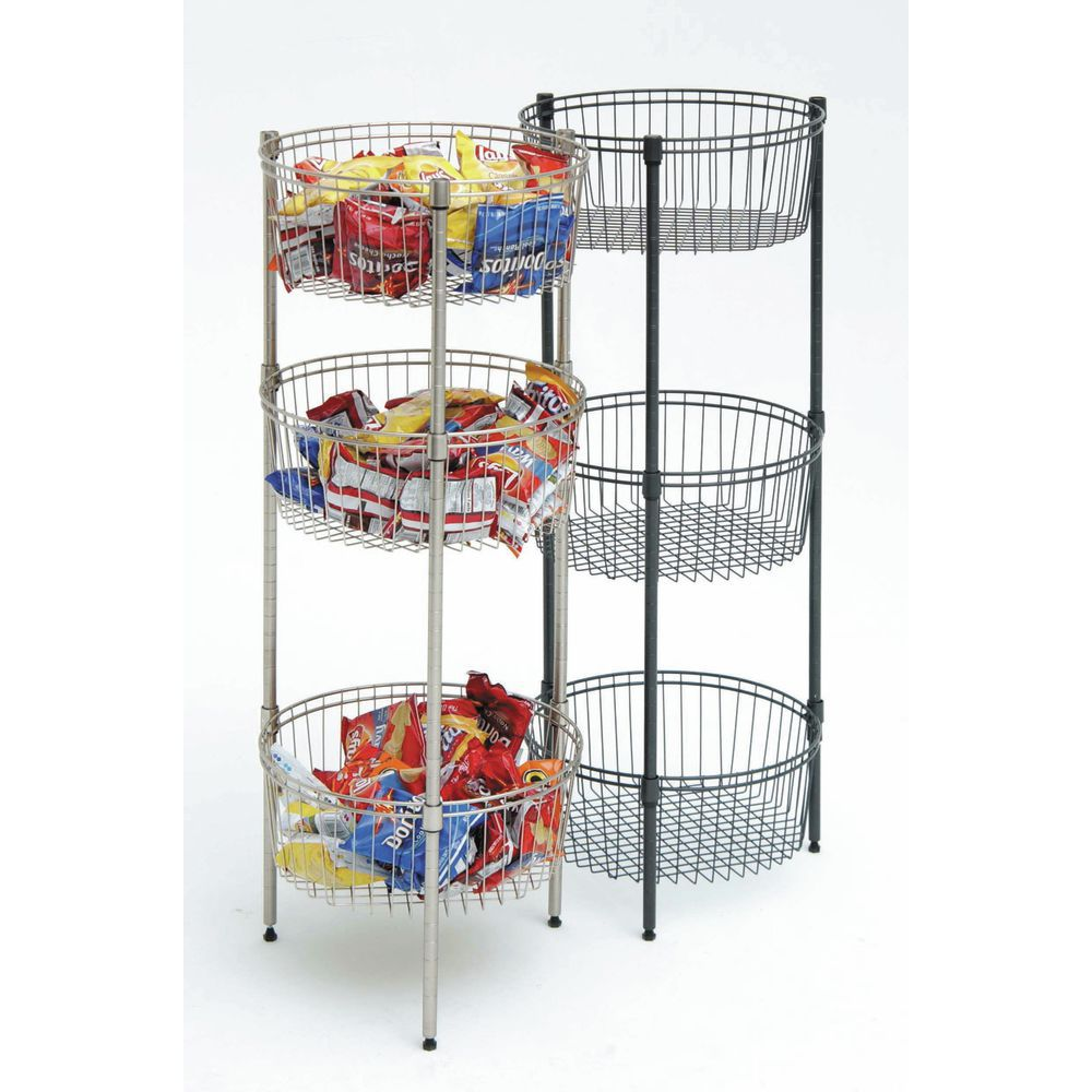 HUBERT Adjustable Flint Wire Impulse Bin Stand - 18Dia x 46H