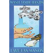 POSTER, FIRST AID, WASH YOUR HANDS, 11 X 17