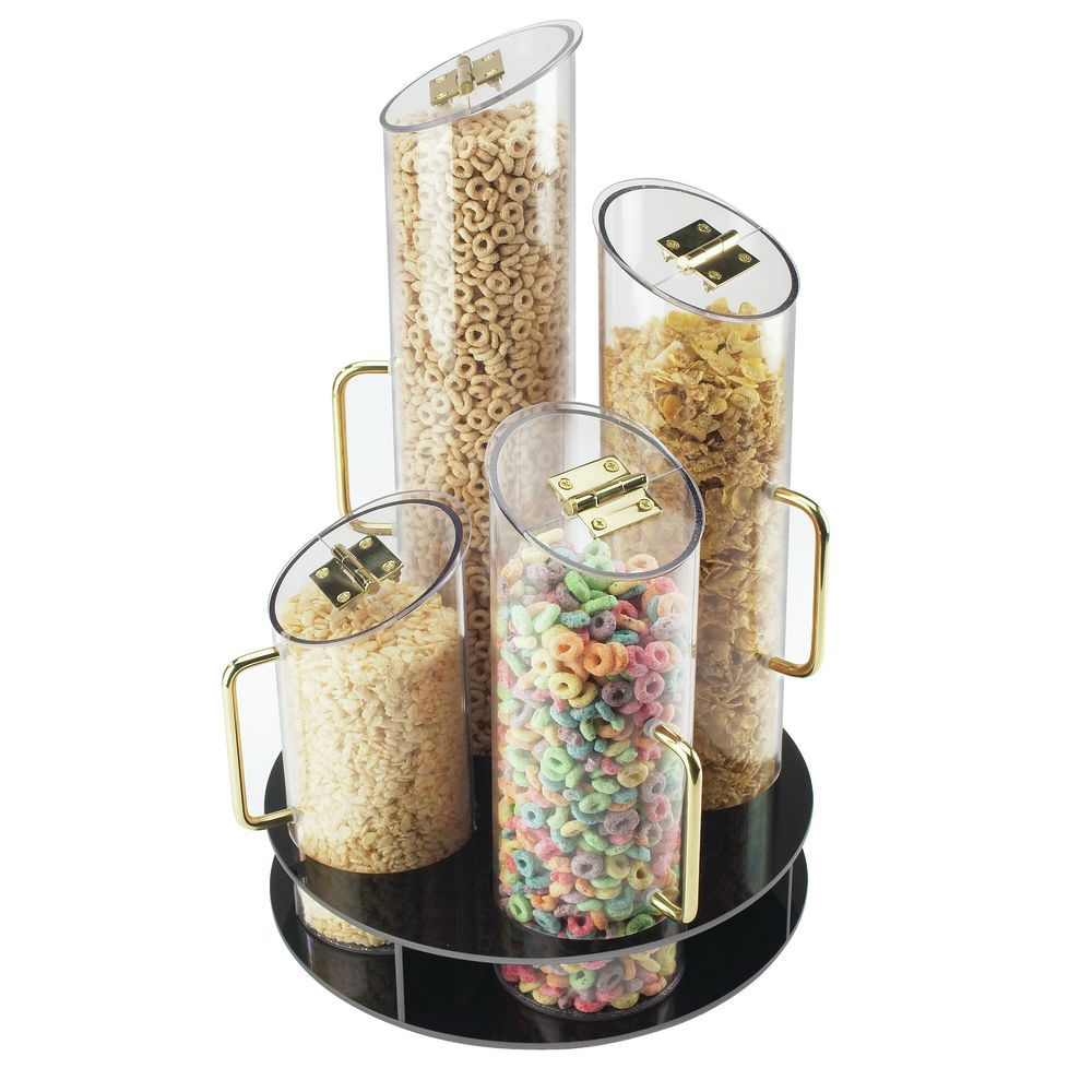Cal-Mil Rotating Cereal Dispenser With Black Base