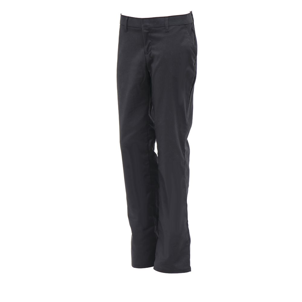 PANT, WOMEN'S, RELAXED, FLAT FRONT, 6, BLK