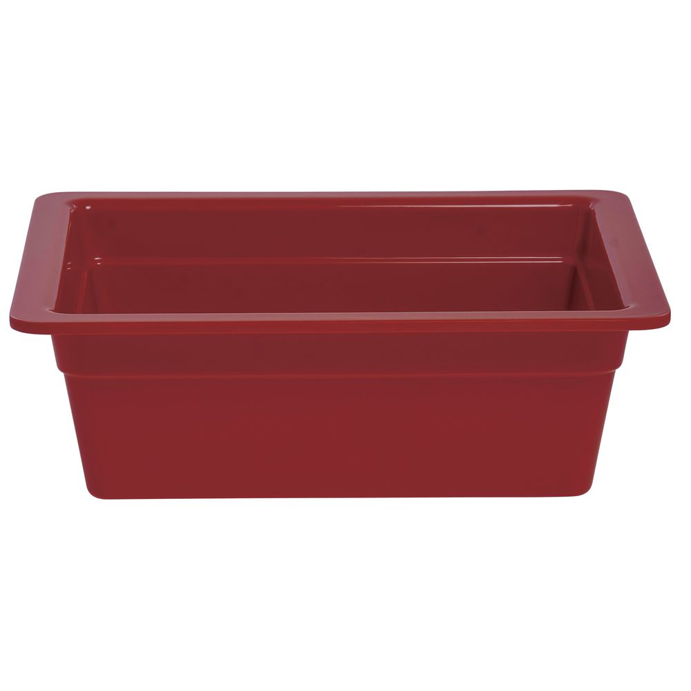 "PAN, 1/2 SZ, 4""D, RED, MELAMINE"