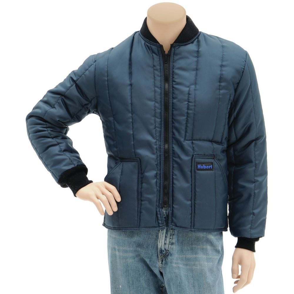 JACKET, INSULATED, LARGE, HUBERT BRAND, NAVY