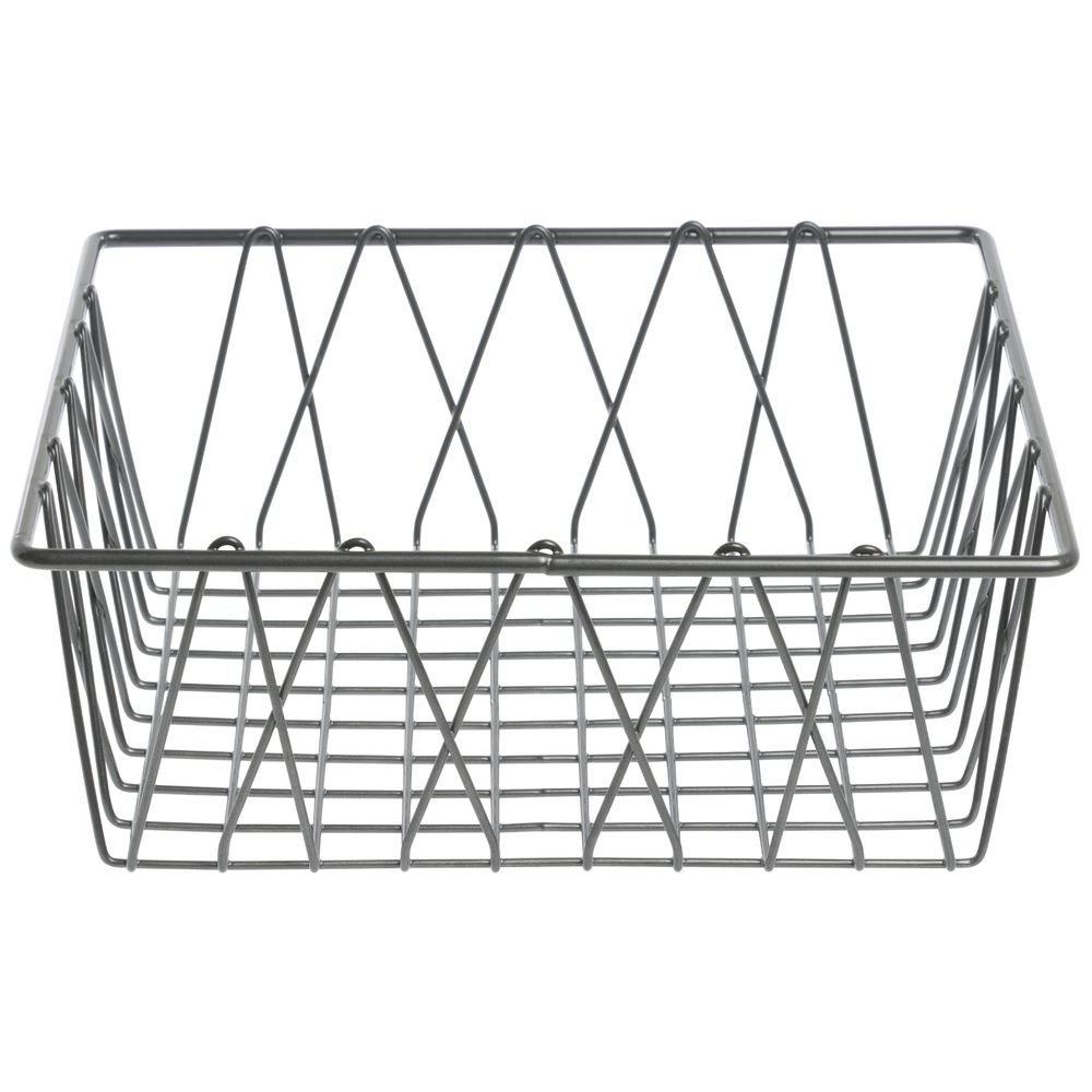 HUBERT® Square Nickel Powder-Coated Steel Wire Basket - 12\
