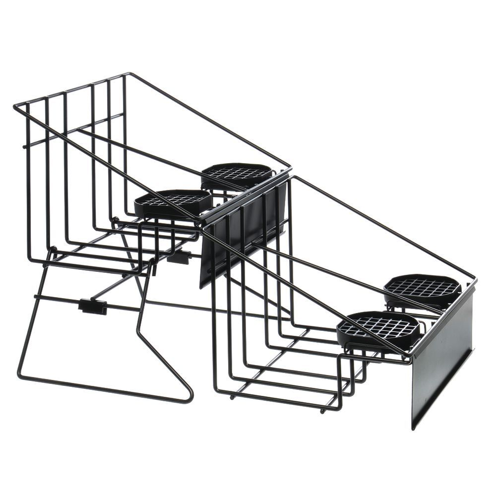 RACK, AIRPOT, BLACK WIRE, 4 HOLDERS