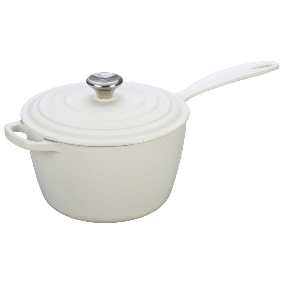 SAUCE PAN, SIGNATURE, 3.25QT, WHITE, CAST