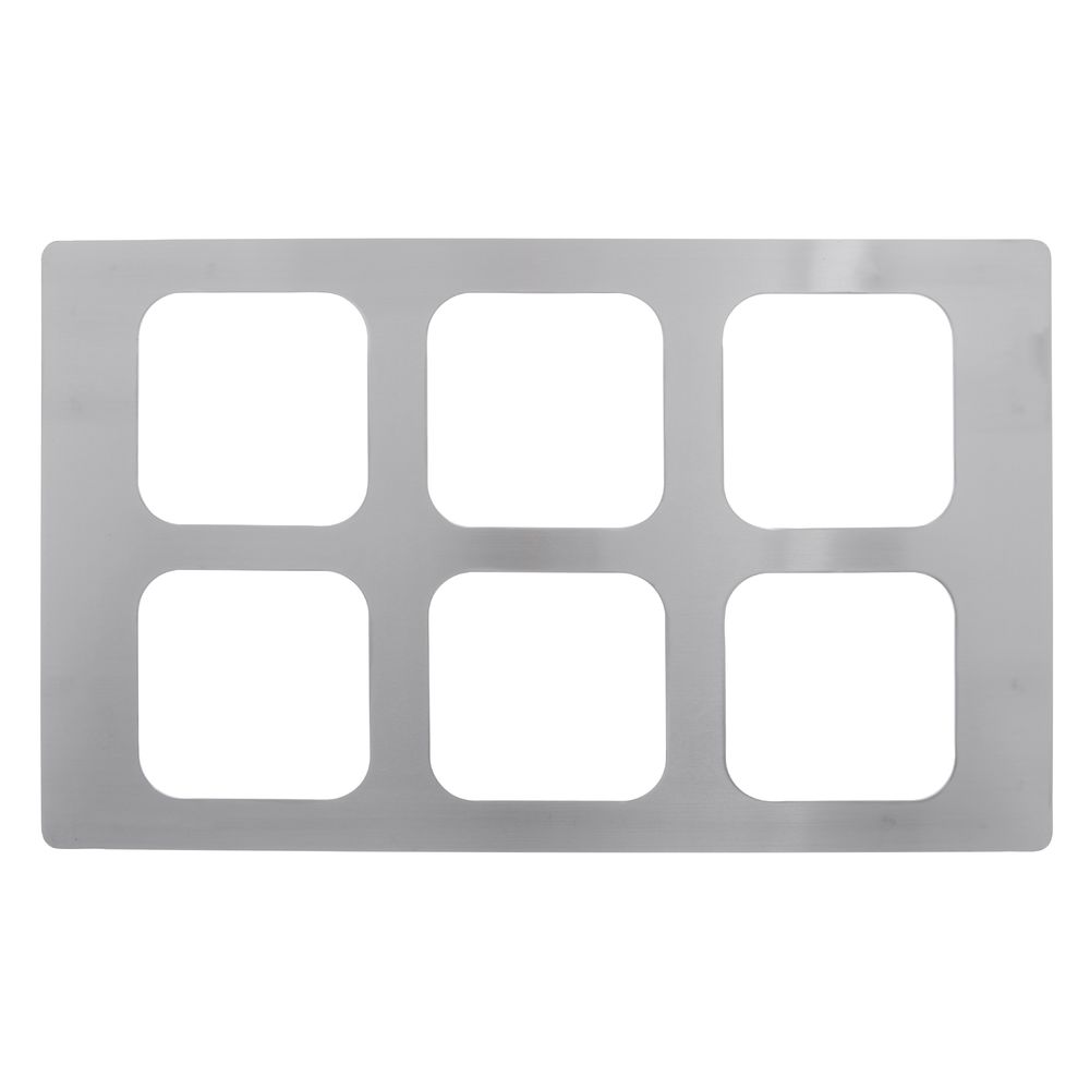 TILE, SIXTH SIZE CUTOUT, STAINLESS, BRUSHED