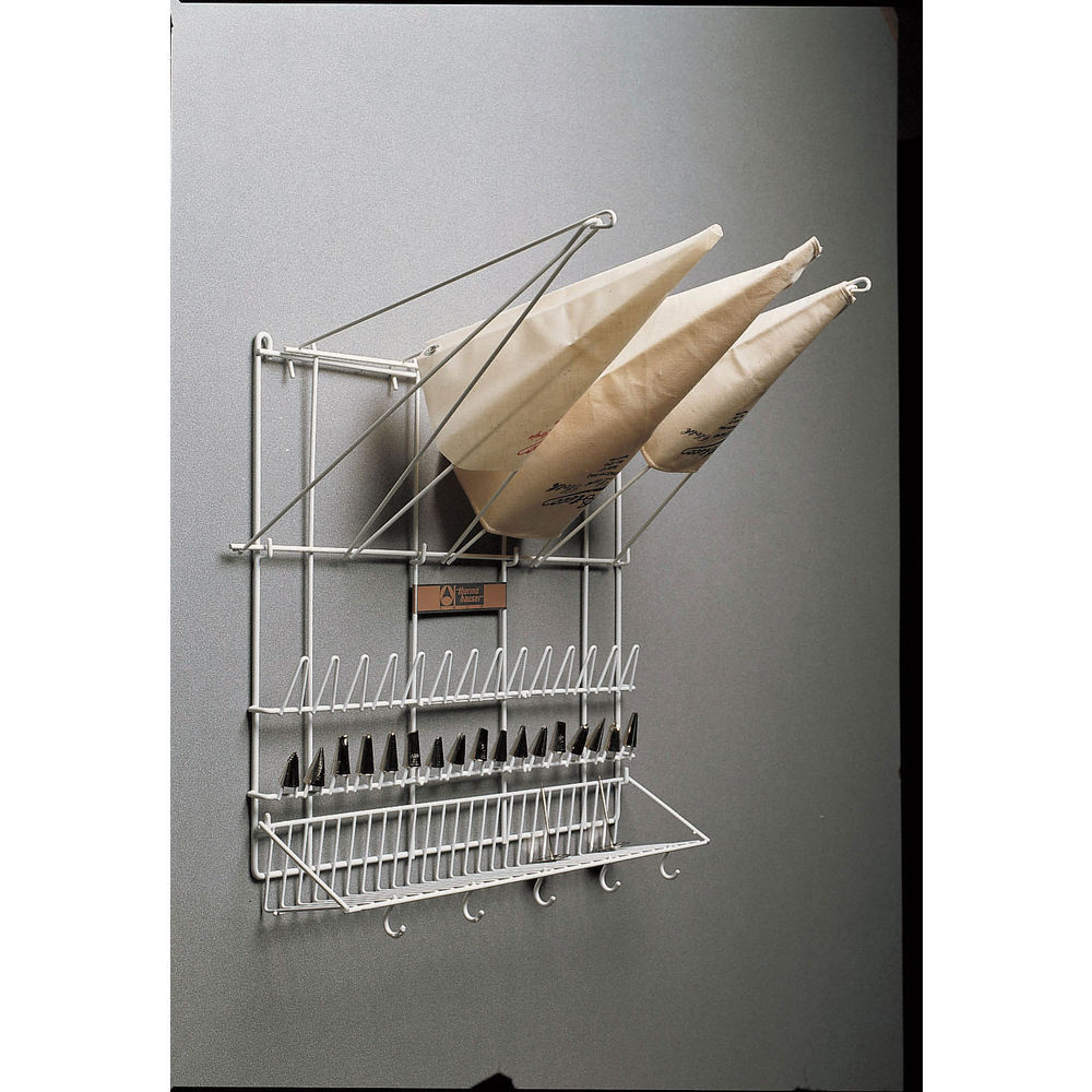 Thermohauser White Wire Pastry Bag Holder and Pastry Tip Drying Rack ...