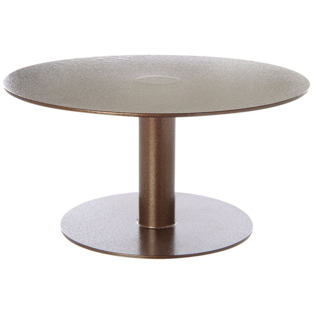 """12"""" Round Pedestal 5""""H Espresso Powder Coat Metal"""