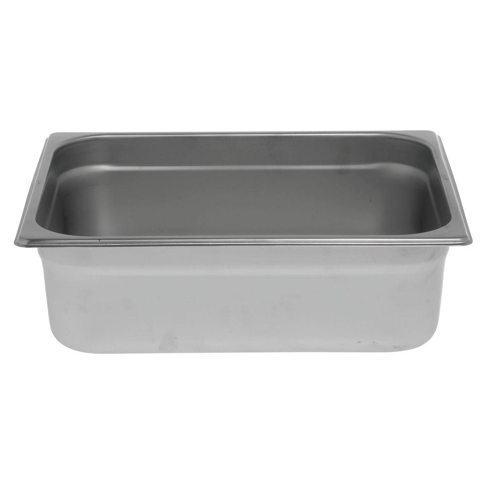 "Hubert Metal Steam Pan 1/2 Size 4""D"
