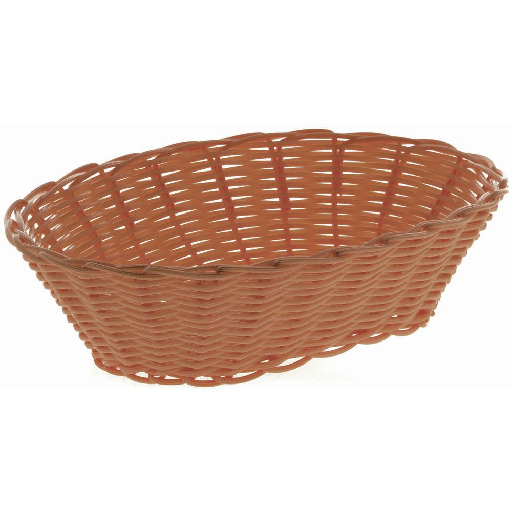 "BASKET, BREAD, OVAL, 9-7/8""L, BROWN"