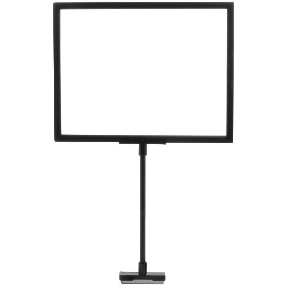 Black Plastic Sign Frame With 8 Stem And Magnetic Base 8 12l X