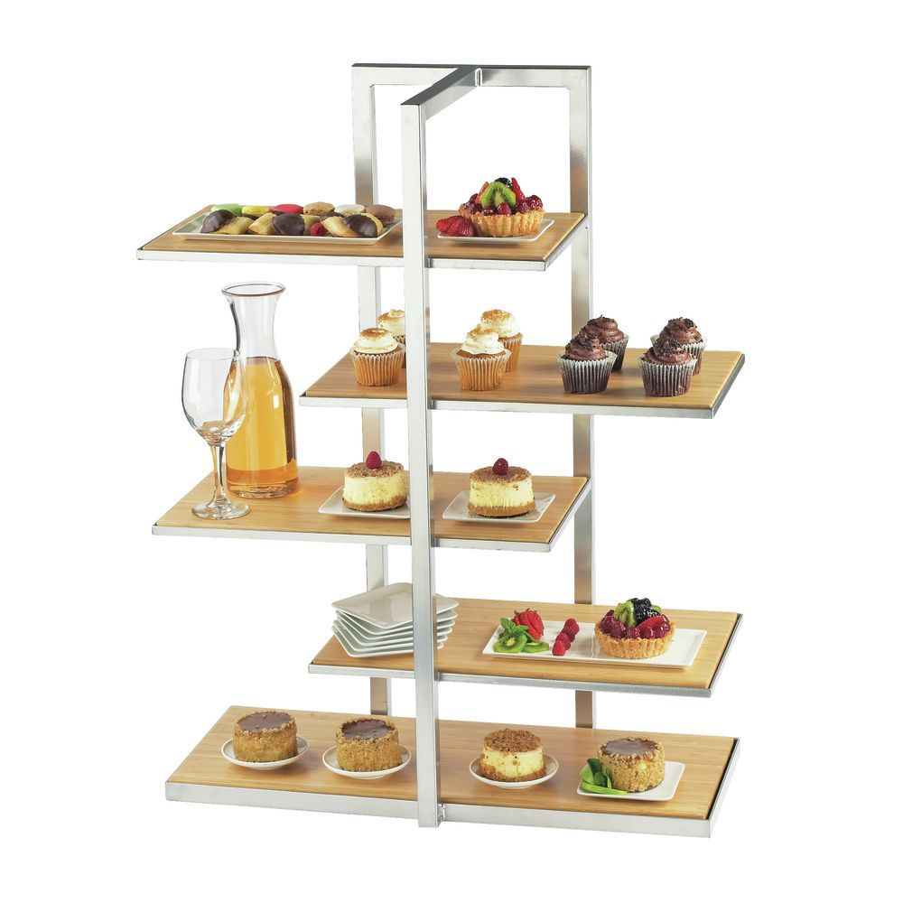 DISPLAY, MULTI-LEVEL, ONE BY ONE, SILVER/BA