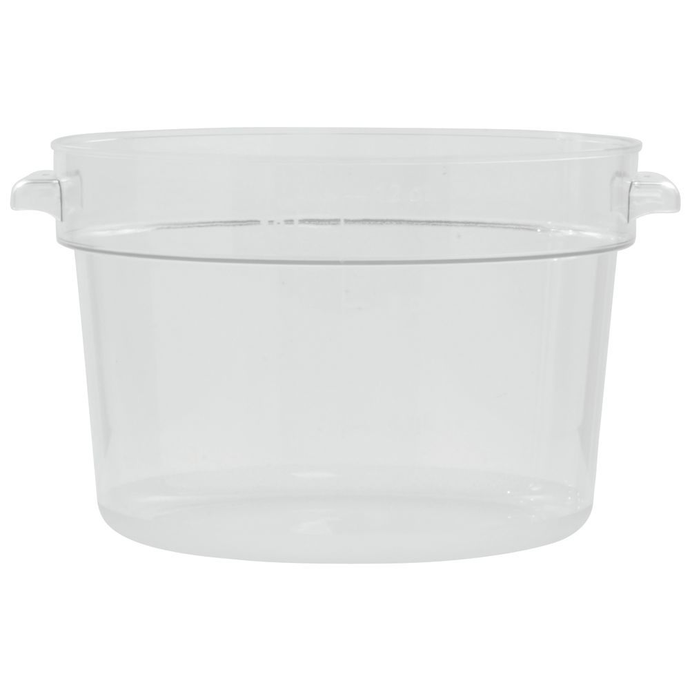 HUBERT 12 qt Round Clear Plastic Food Container 13 78Dia x 8 34D