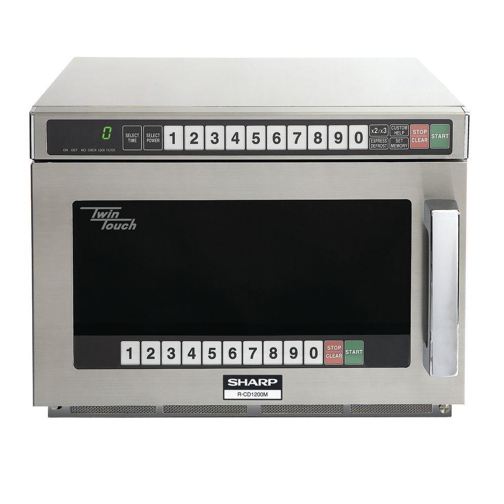 Sharp® TwinTouch™ 1800 Watt Heavy-Duty Compact Commercial Microwave
