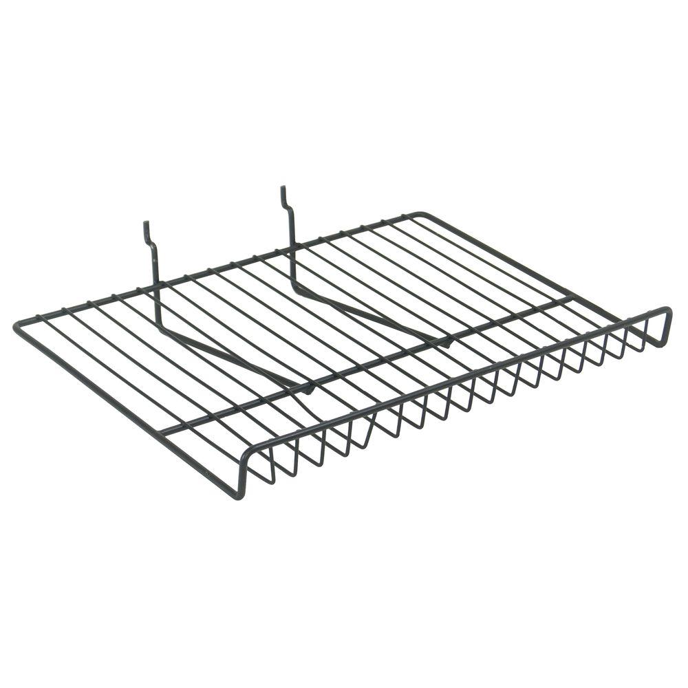 Mobile Merchandisers Angled Black Wire Shelf for Adjustable Basket ...