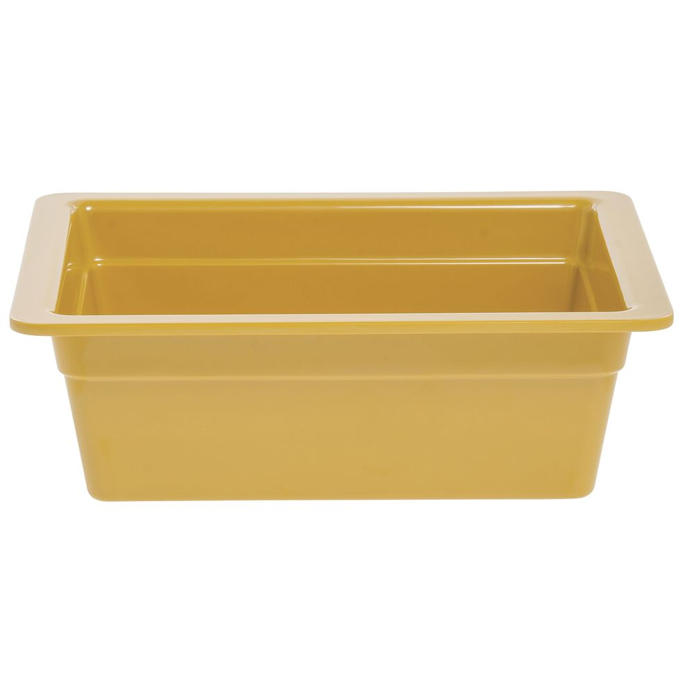 "Expressly Hubert® Half Size Cold Food Pan Melamine 4""D Mustard Yellow"
