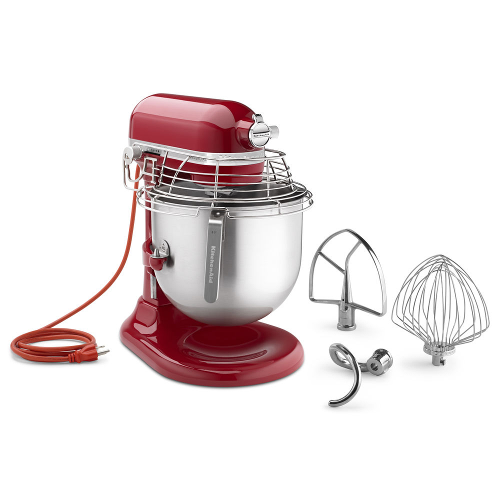 MIXER, 8QT, W/BOWL GUARD, EMPIRE RED
