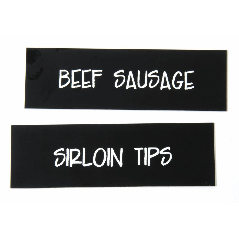 """Point of Sale Pricing System Meat Name Insert Set For Channel Tags 1 1/4""""H x 3 1/2""""L"""