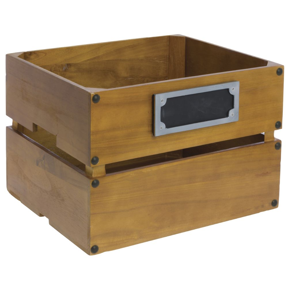 CRATE, PALLET-STYLE, LARGE W/CHALKBOARD