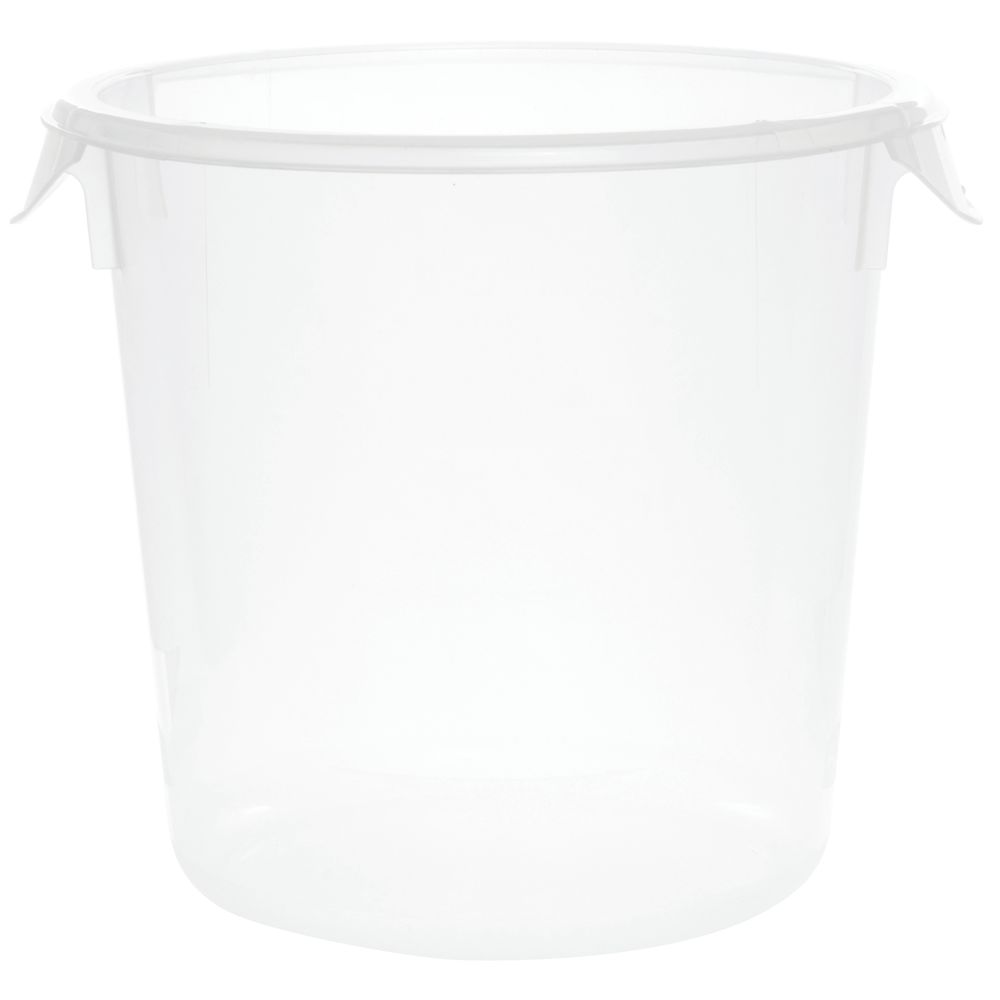 Rubbermaid 4 qt Round Clear Plastic Container 8 12Dia x 7 34H