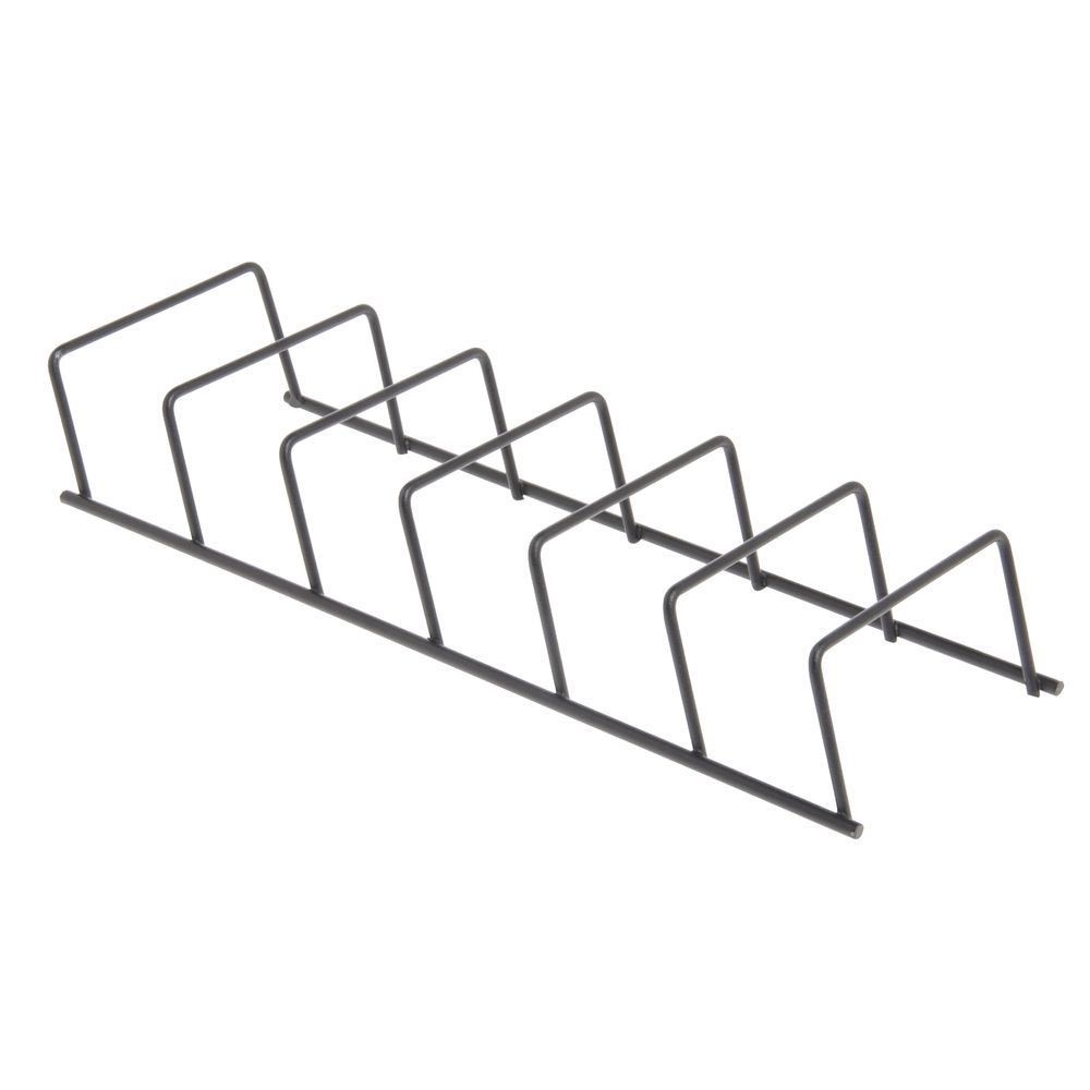 RACK, WIRE ORGANIZER, BLACK 6 SLOT