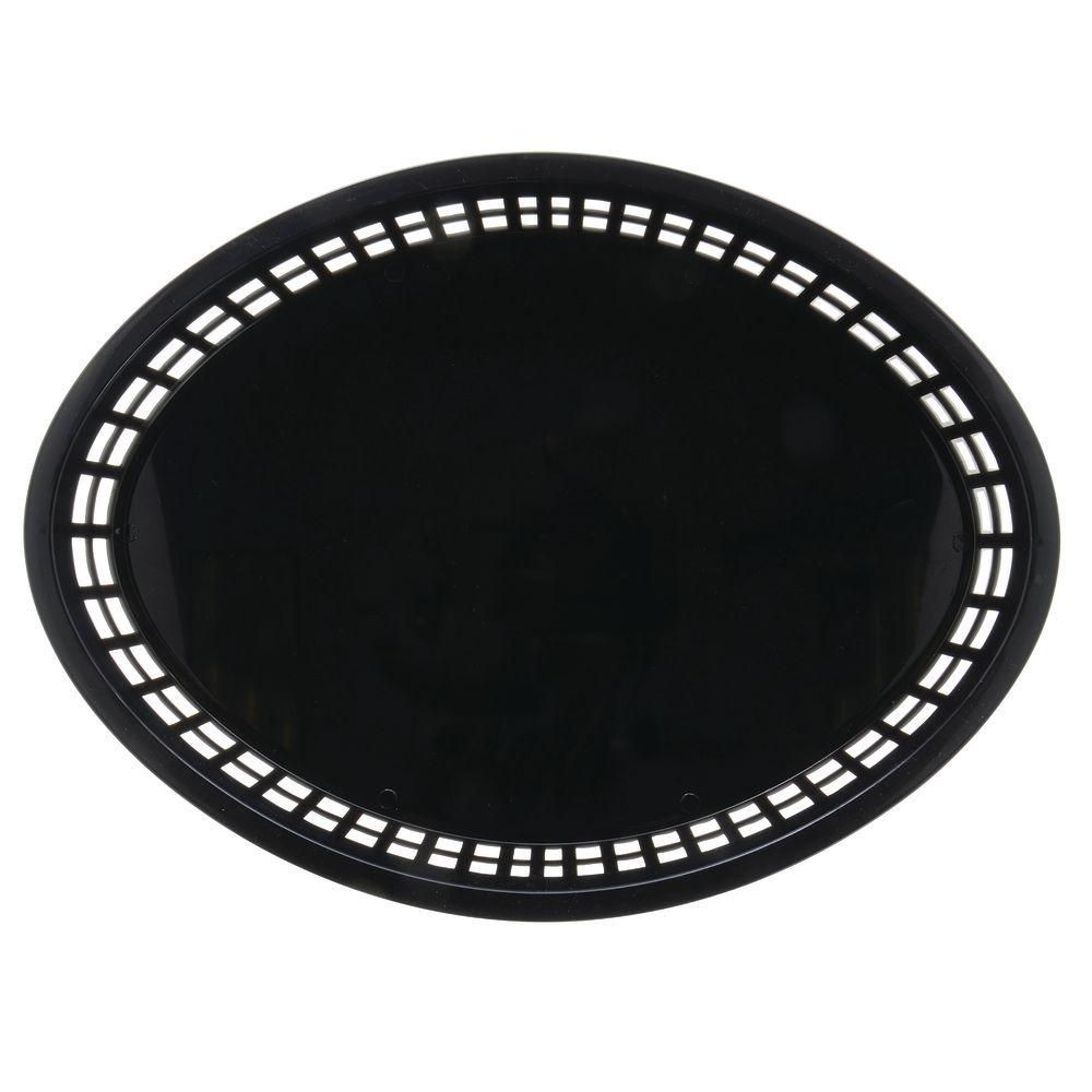 """Classic Oval Texas Platter Basket 12 3/4""""L x 9 1/2""""W x 1 1/2""""H Black Plastic"""