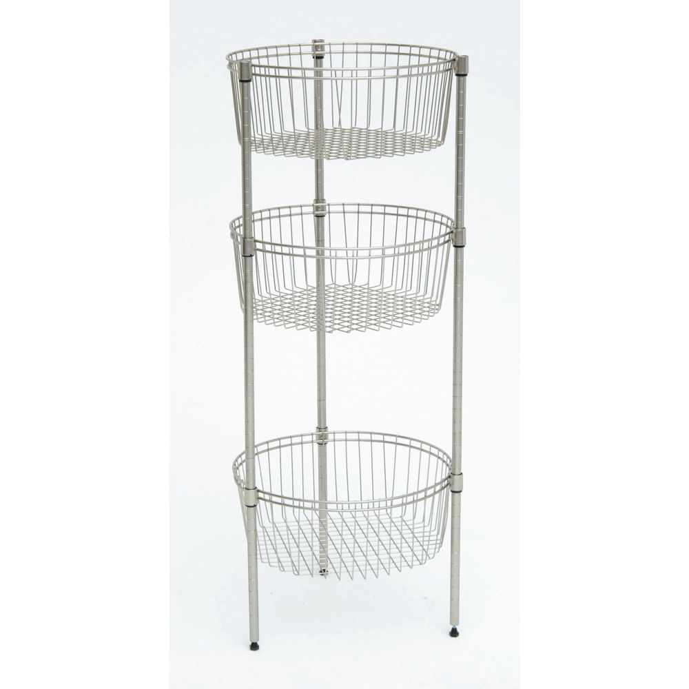 HUBERT® Adjustable Silver Wire Impulse Bin Stand - 18\