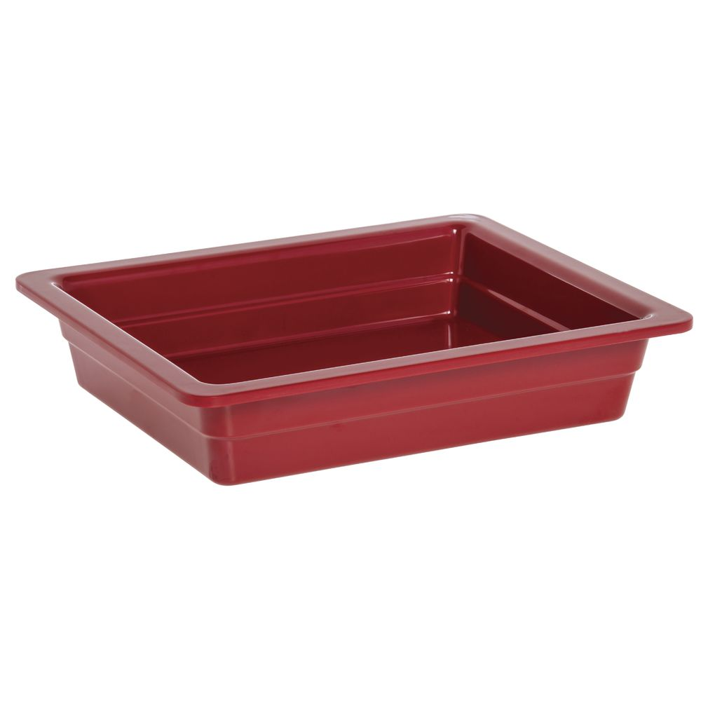 "Expressly Hubert® Half Size Melamine Pan 2 1/2""D Red"