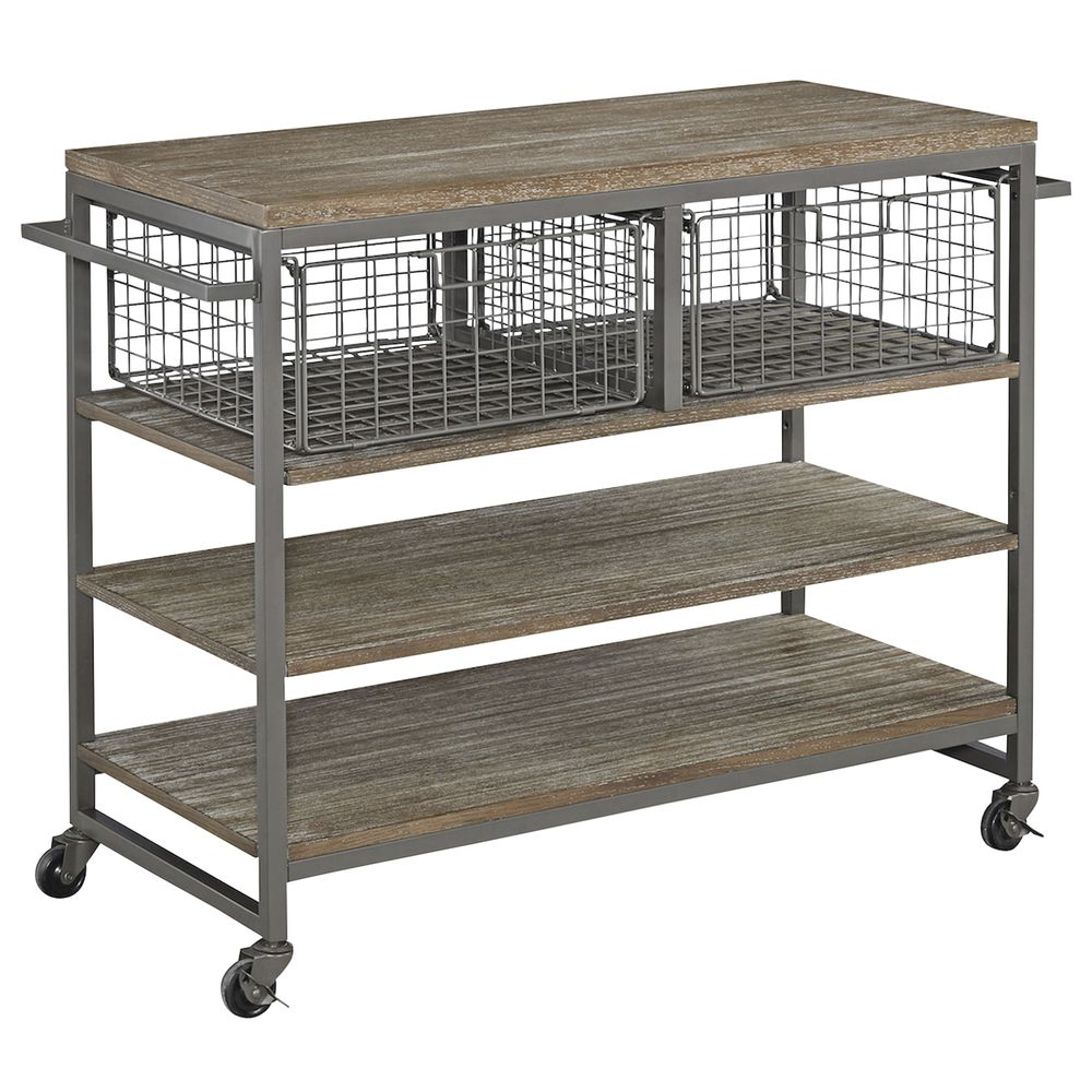 Barnside Metro Grey Wire Kitchen Cart - 20\