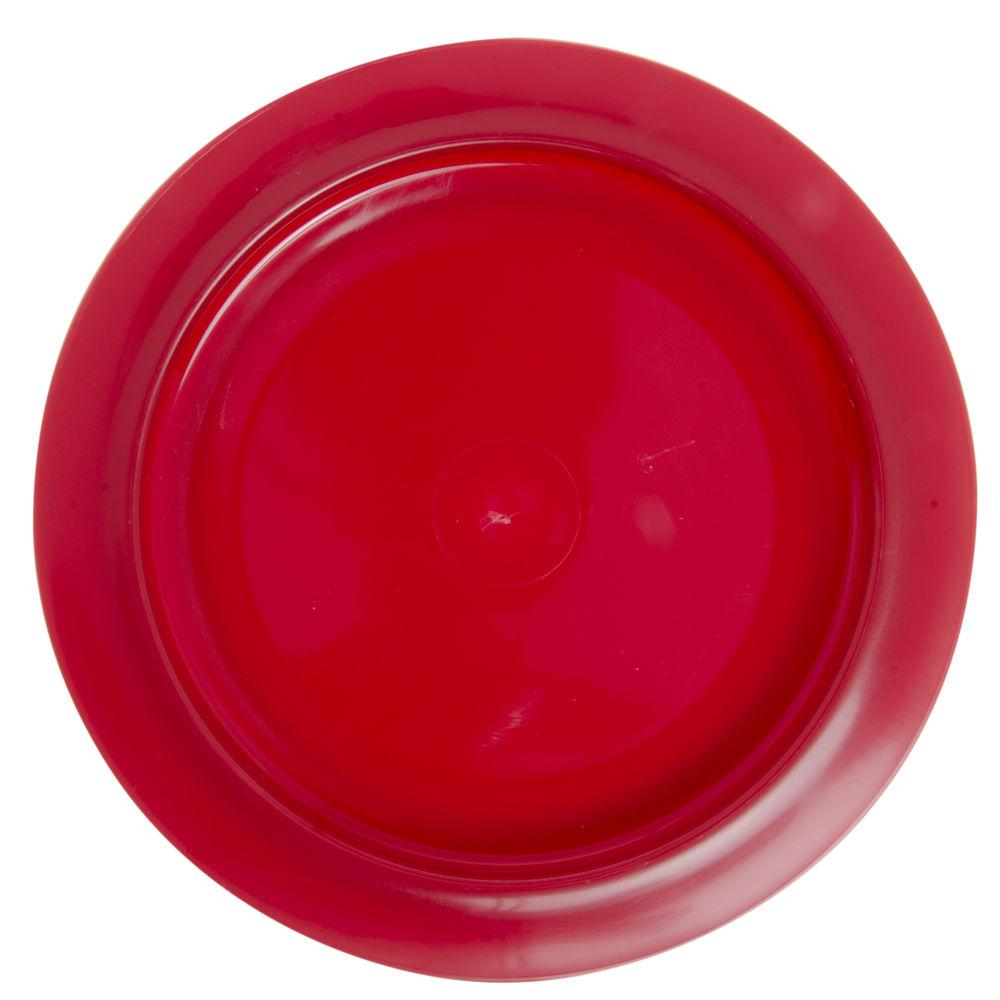 """PLATE, INNER-LIP, 9""""DIA, RED"""