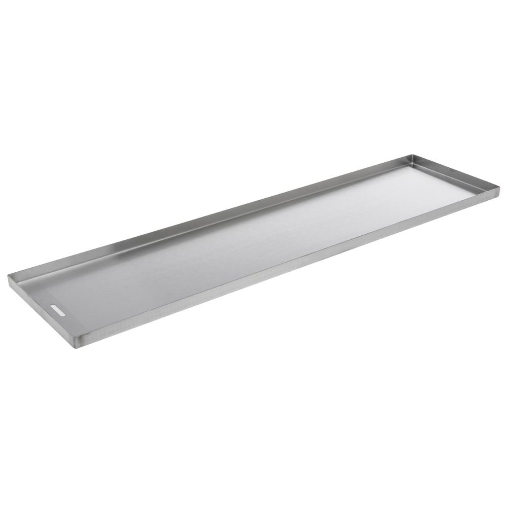 "PAN, STAINLESS, DRAIN SLOT, 6""X30""X0.75""D"