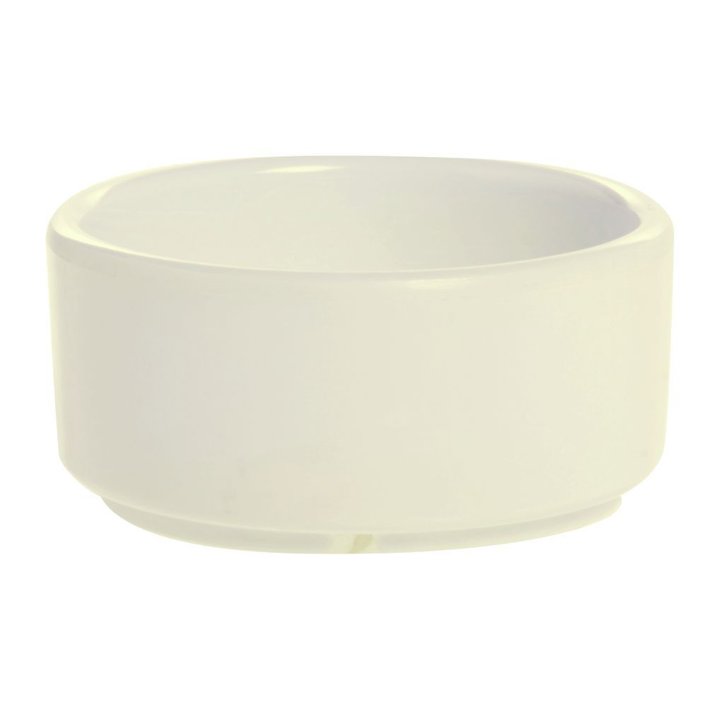RAMEKIN, STRT SIDE, MLMINE, 3 OZ, BONE