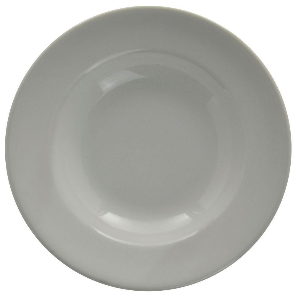 Hubert Rolled-Edge Soup Bowl 13 Oz  Bright White Stoneware Dishes