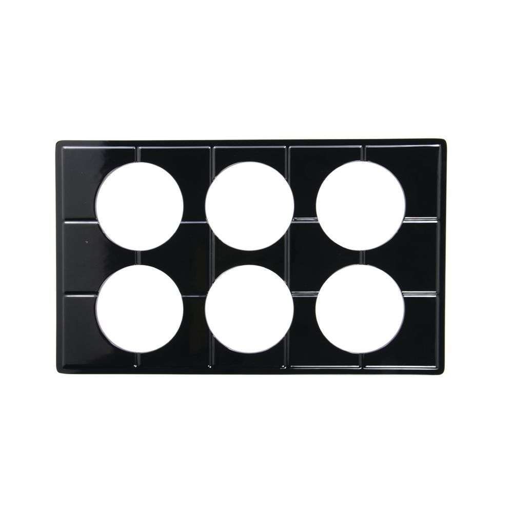 TILE TRAY, FS, BLK.W/6 CUTS FOR#13752