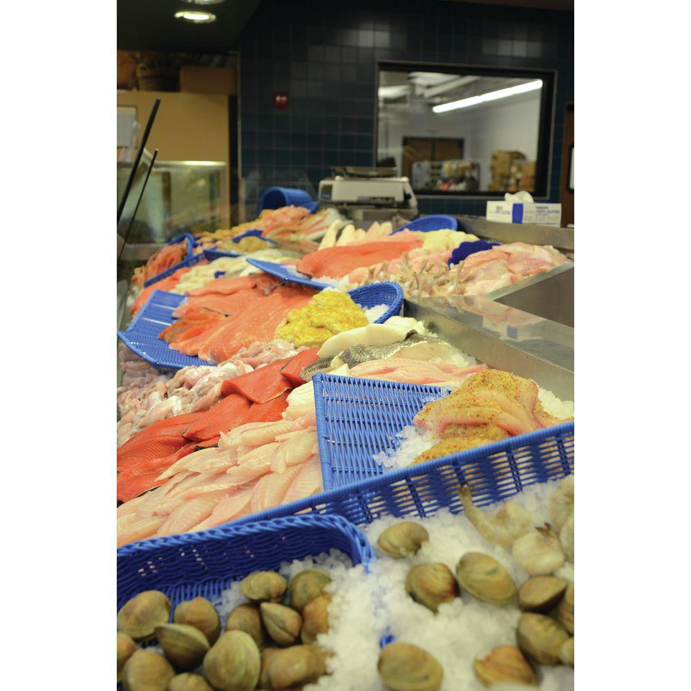 BSKT, SEAFOOD, BLUE, SQUARE, 12LX12WX2-1/2H