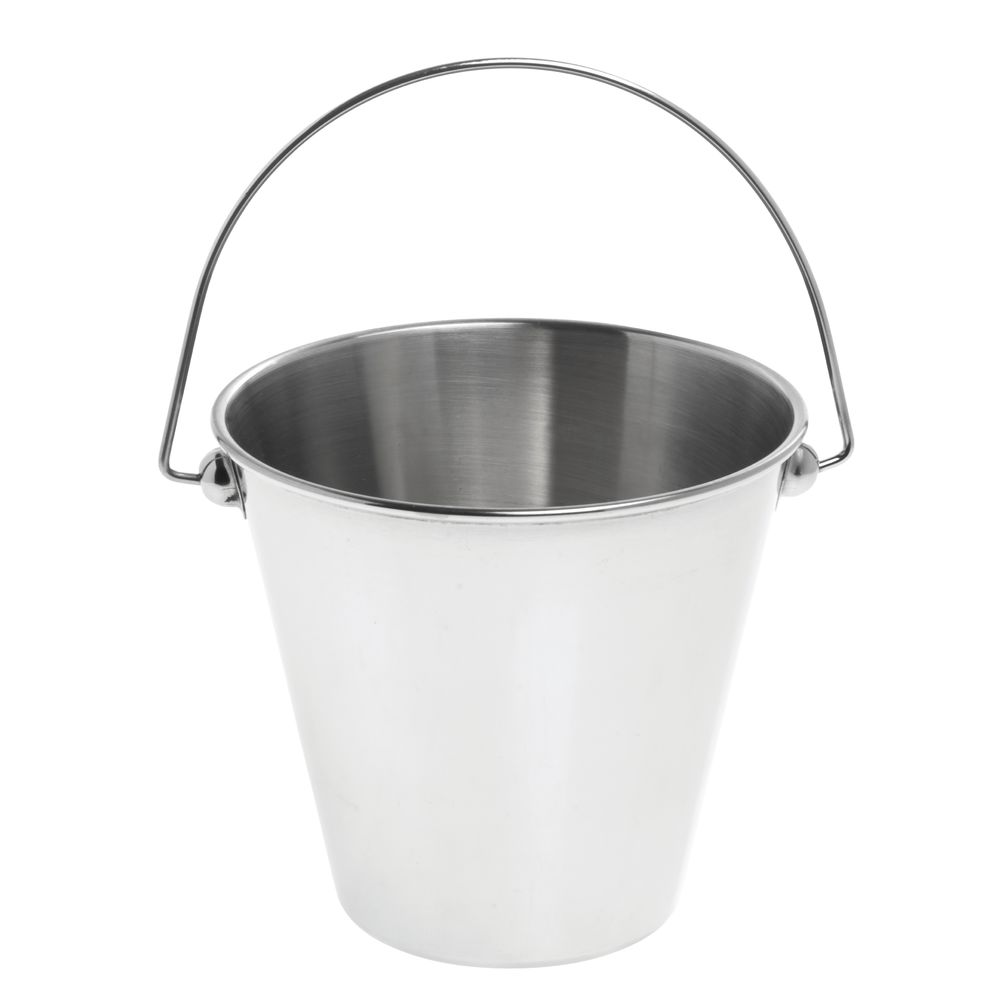 "American Metalcraft Large Serving Pail 4 3/8""Dia x 4 7/8""H Stainless Steel"