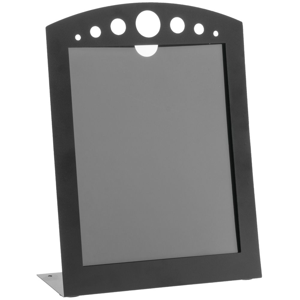Expressly Hubert Black Metal Arc Sign Holder With Circle Cut Outs