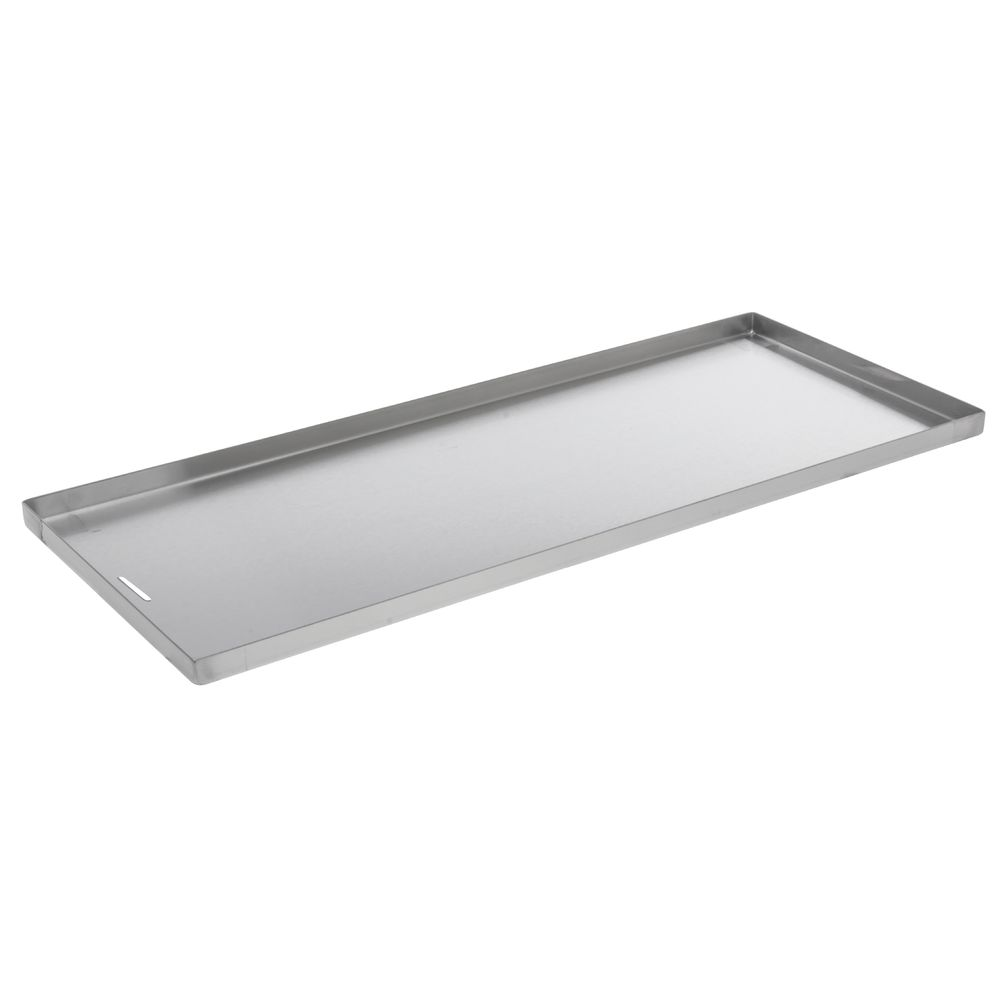 "PAN, STAINLESS, DRAIN SLOT, 10""X24""X0.75""D"