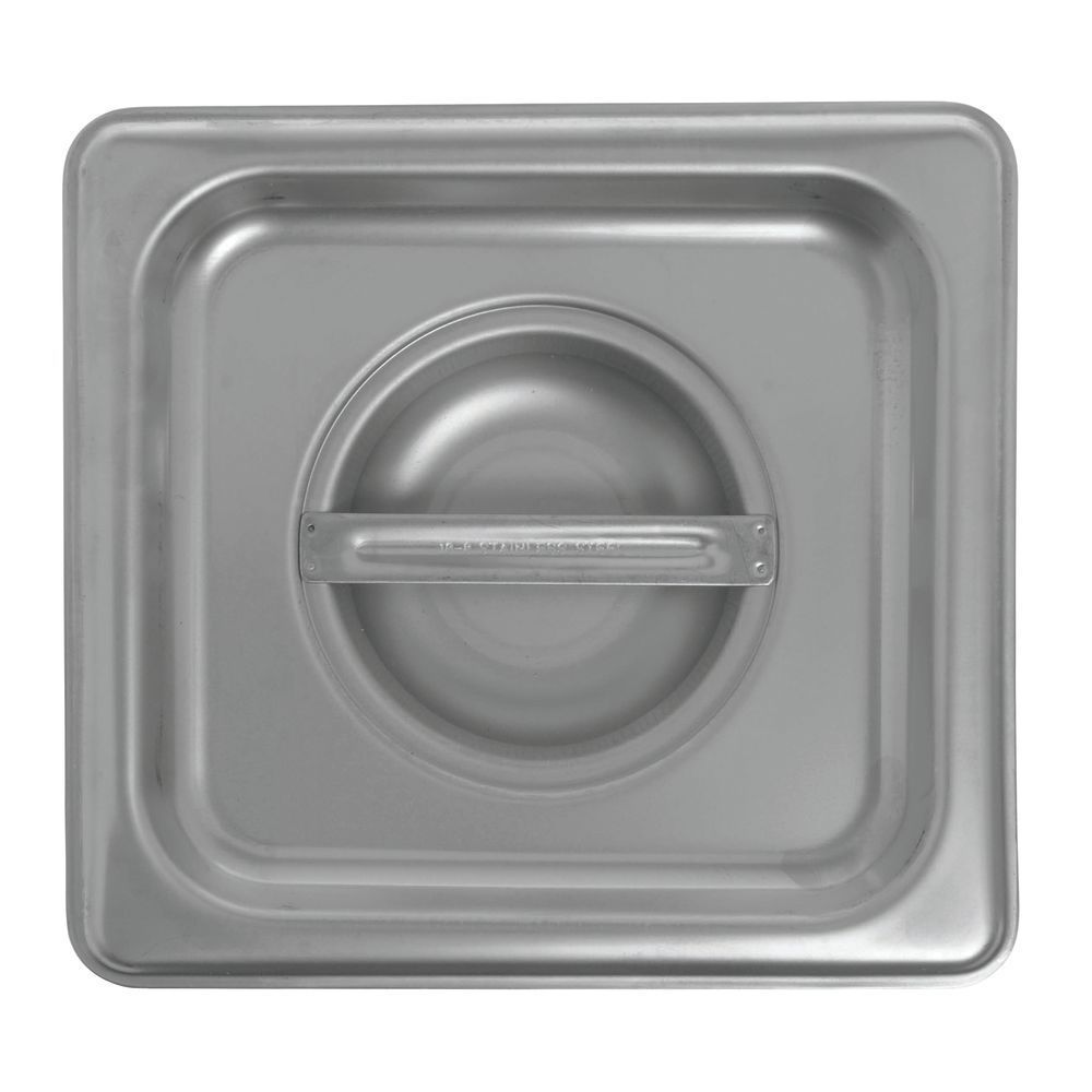 Hubert® Steam Table Pan Cover Solid 1/6 Size