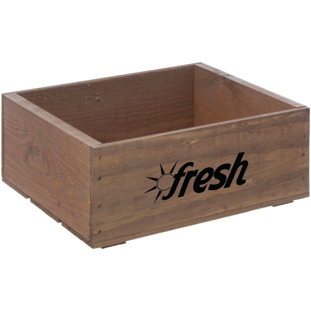 "Wooden Crate Fresh Logo Early American Small 14 3/4""L x 11 1/4""W x 5 7/8""H"