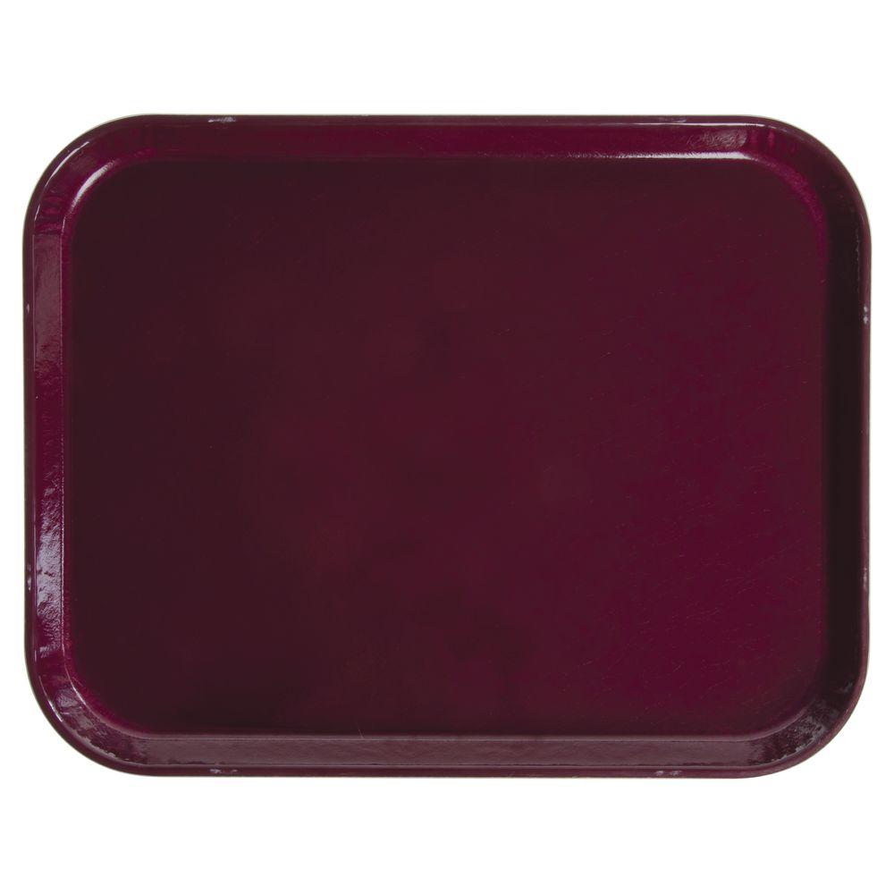 """Cambro Cafeteria Tray Burgundy Wine Fiberglass 16""""L x 12""""W"""