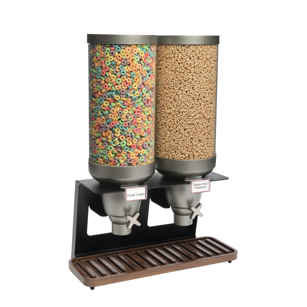 DISP, 2-CONTAINER, (2)3.5GAL, WALNUT BASE