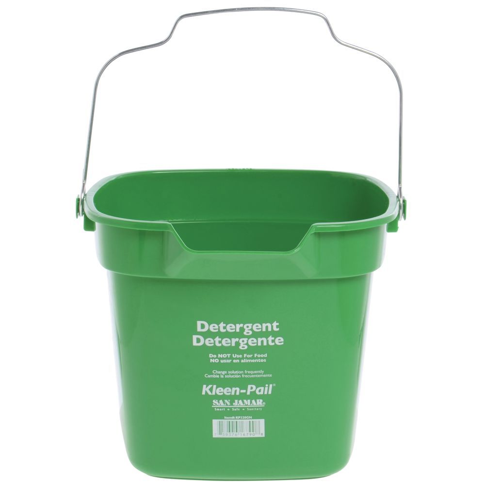 KLEEN-PAIL, 10 QT., GREEN, CLEANING